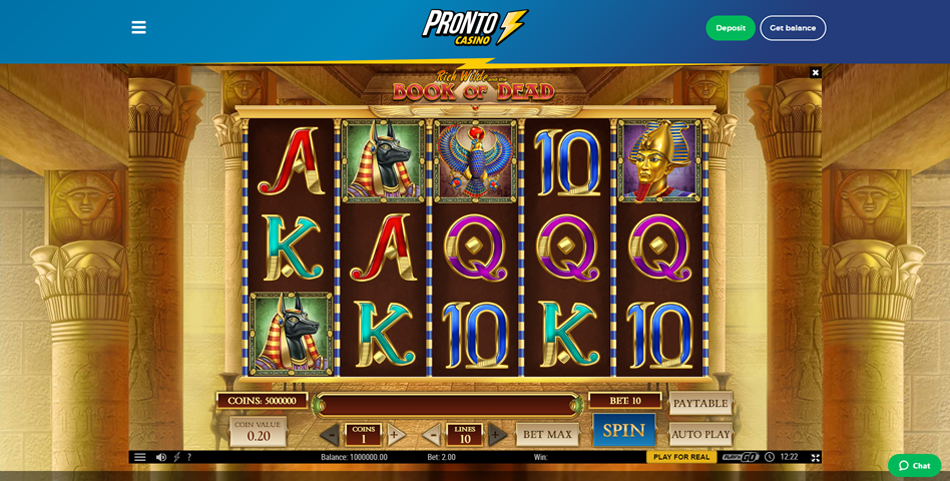 pronto casino slot