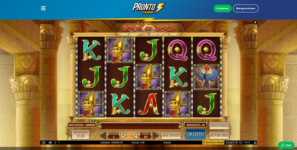 pronto casino slots