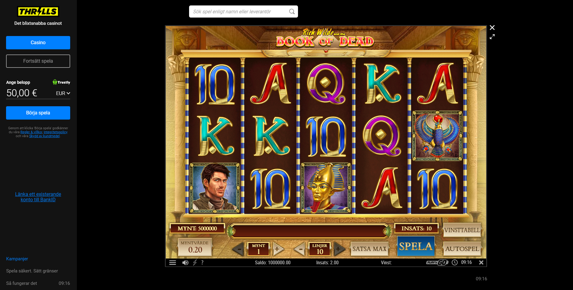 thrills casino slots