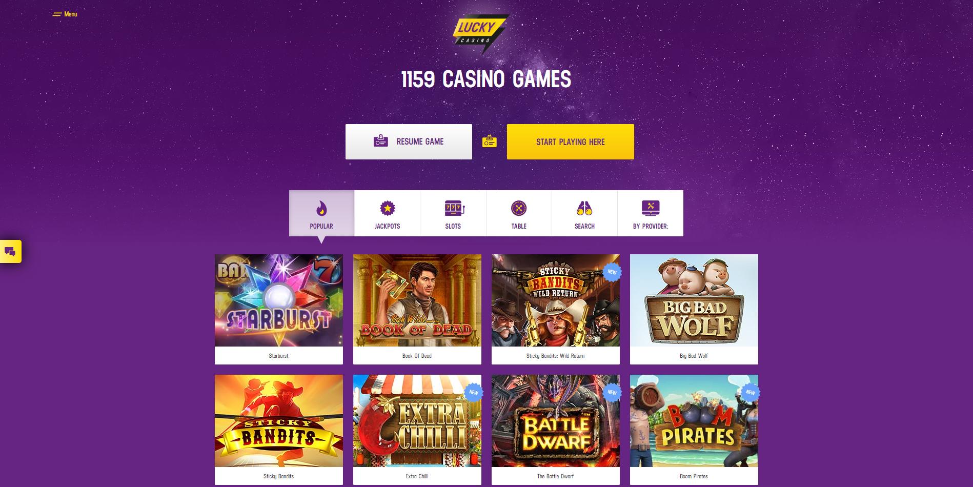 lucky casino spel